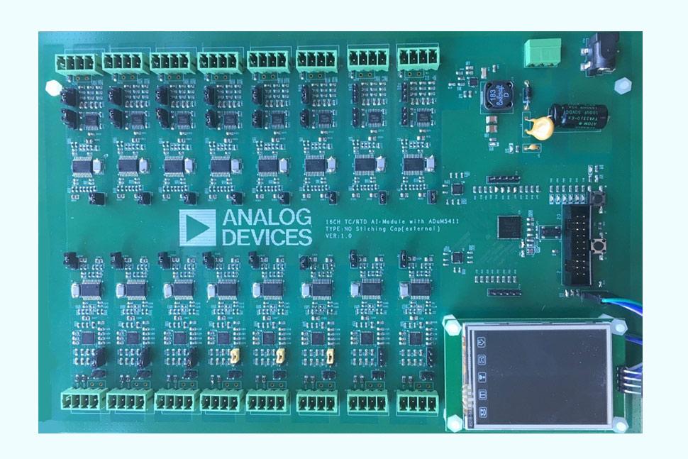 用于高端TC/RTD模块的16通道间隔离型模拟输入解决方案